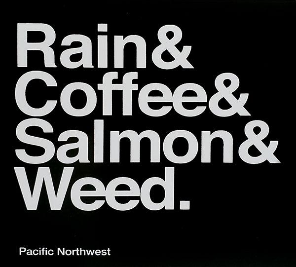 rain-&-coffee-&-salmon-&-weed-seatle-sticker