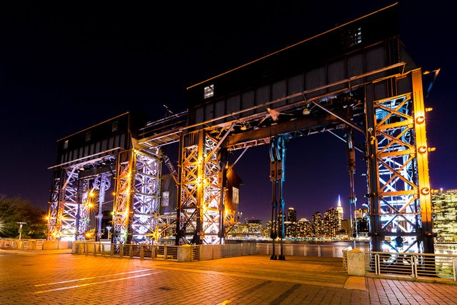 LONG ISLAND CITY GANTRY NIGHT PHOTO